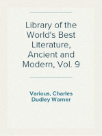 Library of the World's Best Literature, Ancient and Modern, Vol. 9