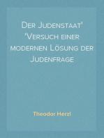 Der Judenstaat Versuch einer modernen Lösung der Judenfrage
