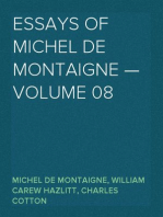 Essays of Michel de Montaigne — Volume 08