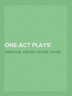 One-Act Plays By Modern Authors