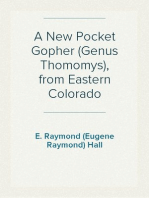 A New Pocket Gopher (Genus Thomomys), from Eastern Colorado