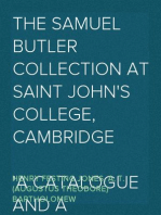 The Samuel Butler Collection at Saint John's College, Cambridge A Catalogue and a Commentary