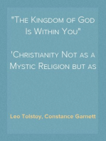 """The Kingdom of God Is Within You""