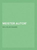 Meister Autor oder Die Geschichten vom versunkenen Garten