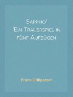 Sappho Ein Trauerspiel in fünf Aufzügen