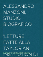 Alessandro Manzoni, Studio Biografico Letture fatte alla Taylorian Institution di Oxford nel maggio dell'anno 1878, notevolmente ampliate
