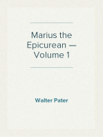 Marius the Epicurean — Volume 1