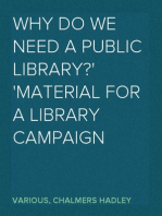 Why do we need a public library? Material for a library campaign