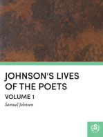 Johnson's Lives of the Poets — Volume 1