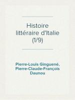 Histoire littéraire d'Italie (1/9)