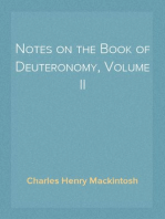 Notes on the Book of Deuteronomy, Volume II