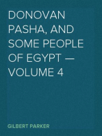 Donovan Pasha, and Some People of Egypt — Volume 4