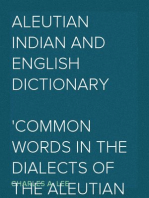 Aleutian Indian and English Dictionary