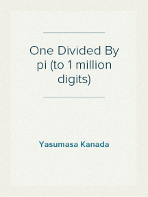 One Divided By pi (to 1 million digits)