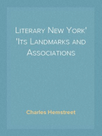 Literary New York Its Landmarks and Associations