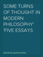 Some Turns of Thought in Modern Philosophy Five Essays