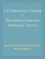 The Spectator, Volume 1 Eighteenth-Century Periodical Essays