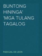 Buntong Hininga Mga Tulang Tagalog