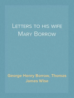 Letters to his wife Mary Borrow
