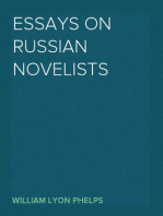 Essays on Russian Novelists