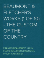Beaumont & Fletcher's Works (1 of 10) - the Custom of the Country