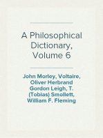 A Philosophical Dictionary, Volume 6