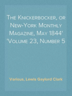 The Knickerbocker, or New-York Monthly Magazine, May 1844 Volume 23, Number 5