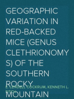 Geographic Variation in Red-backed Mice (Genus Clethrionomys) of the Southern Rocky Mountain Region