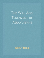 The Will And Testament of 'Abdu'l-Bahá