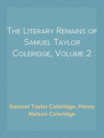 The Literary Remains of Samuel Taylor Coleridge, Volume 2