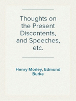 Thoughts on the Present Discontents, and Speeches, etc.