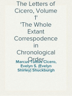 The Letters of Cicero, Volume 1 The Whole Extant Correspodence in Chronological Order