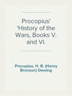 Procopius History of the Wars, Books V. and VI.