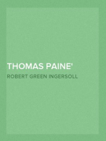 Thomas Paine From 'The Gods and Other Lectures'