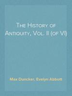 The History of Antiquity, Vol. II (of VI)