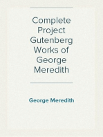 Complete Project Gutenberg Works of George Meredith