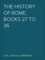 The History of Rome, Books 27 to 36