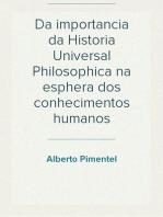 Da importancia da Historia Universal Philosophica na esphera dos conhecimentos humanos