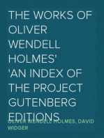 The Works Of Oliver Wendell Holmes An Index of the Project Gutenberg Editions
