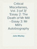 Critical Miscellanies, Vol. 3 (of 3) Essay 2