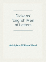 Dickens English Men of Letters