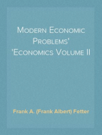 Modern Economic Problems Economics Volume II
