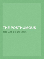 The Posthumous Works of Thomas De Quincey,  Vol. 1