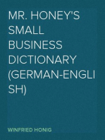 Mr. Honey's Small Business Dictionary (German-English)