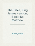 The Bible, King James version, Book 40