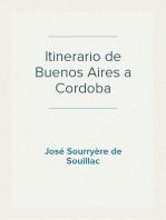 Itinerario de Buenos Aires a Cordoba