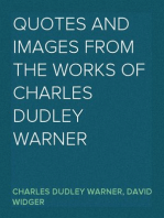 Quotes and Images From The Works of Charles Dudley Warner
