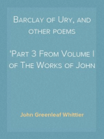 Barclay of Ury, and other poems