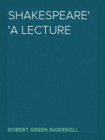 Shakespeare A Lecture