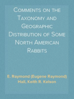 Comments on the Taxonomy and Geographic Distribution of Some North American Rabbits